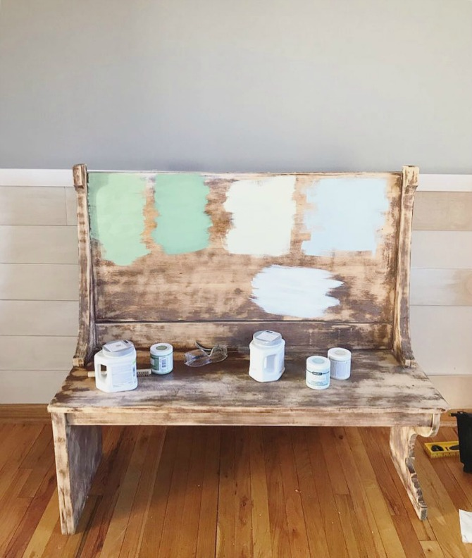 My Faux Shiplap Chair Rail And Farmhouse Dining Room