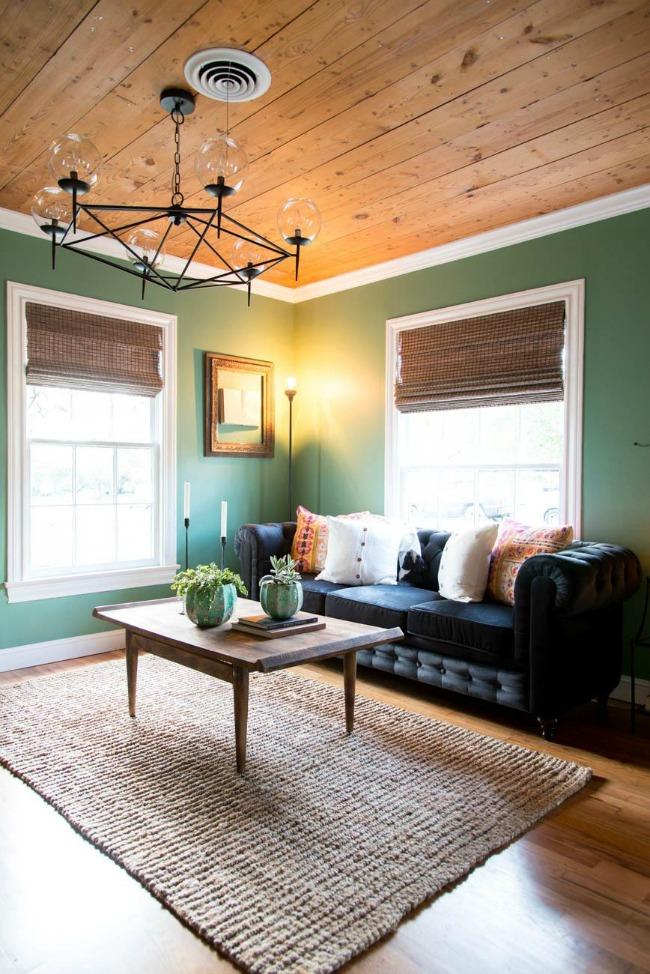 Magnolia green paint on living room walls
