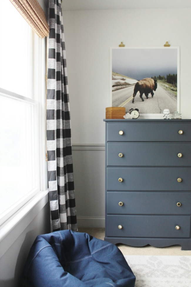 Rustic Boy Bedroom in Navy and Repose Gray