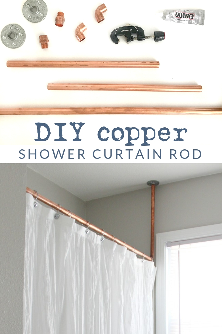 No Welding Needed A Diy Copper Shower Curtain Rod The