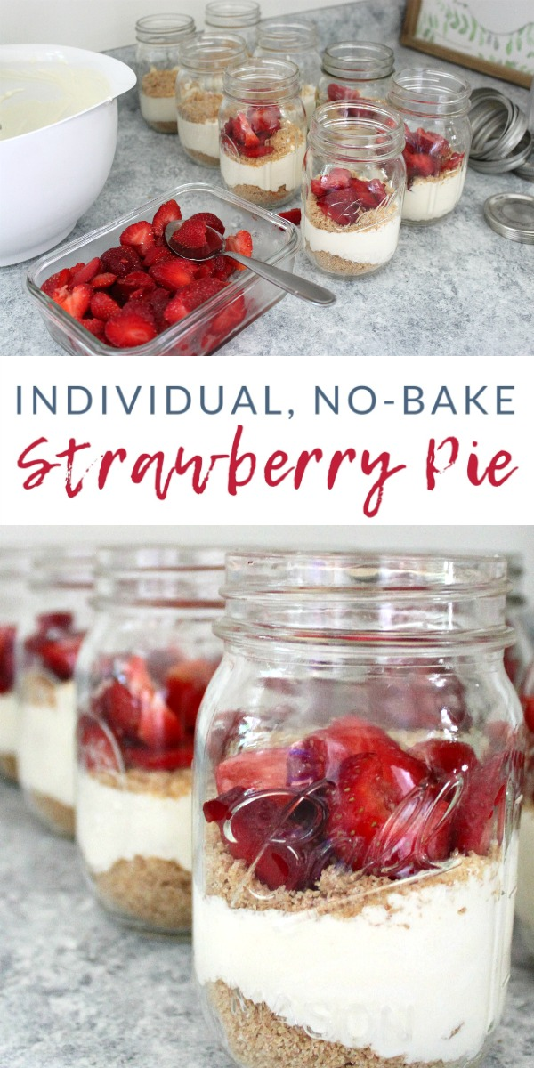 Follow this super simple recipe to make individual strawberry pies - a light and refreshing no-bake summer treat that highlights fresh summer strawberries.