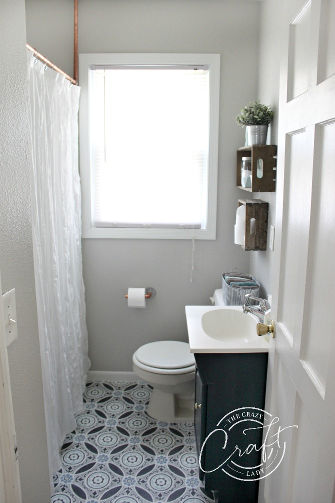 Under 200 A Small Bathroom Makeover In Just One Weekend