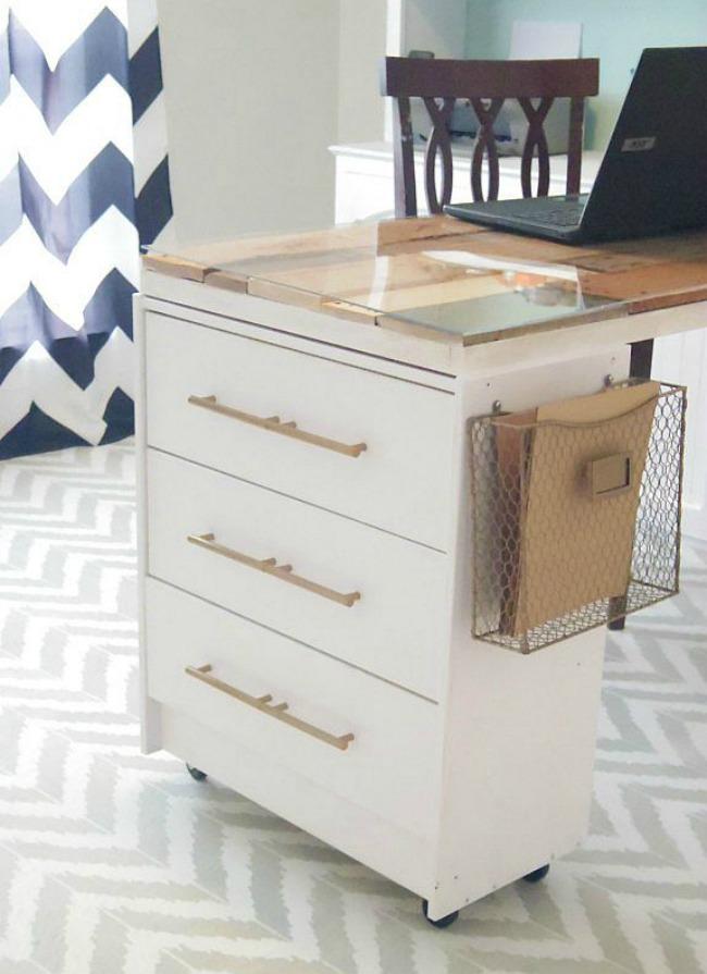DIY Craft Table Ikea Rast Hack