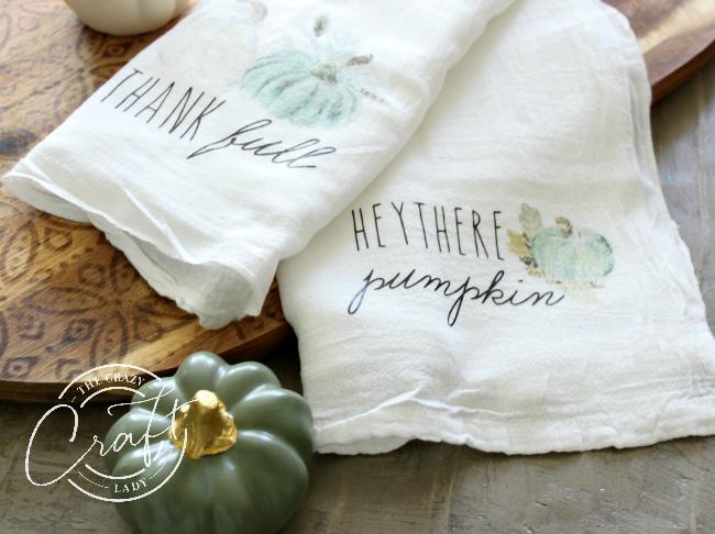 DIY Fall Tea Towels - a Cricut Project
