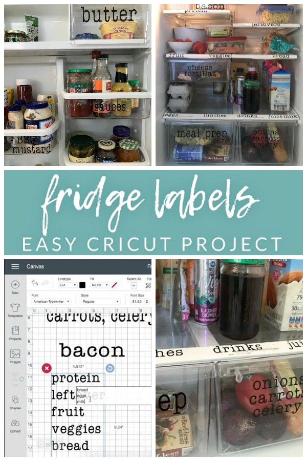 DIY Fridge Labels in Cricut Design Space