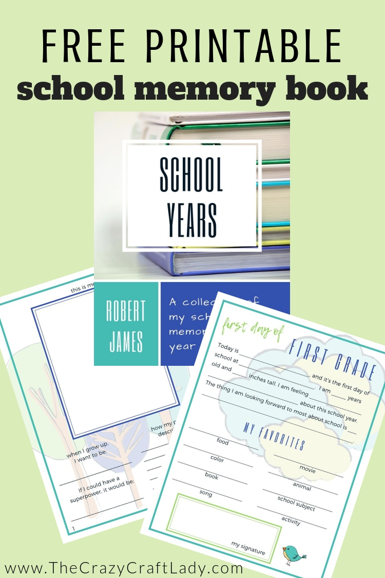 Free Printable School Memory Book - track your child's interests and development in this printable binder-sized elementary school album