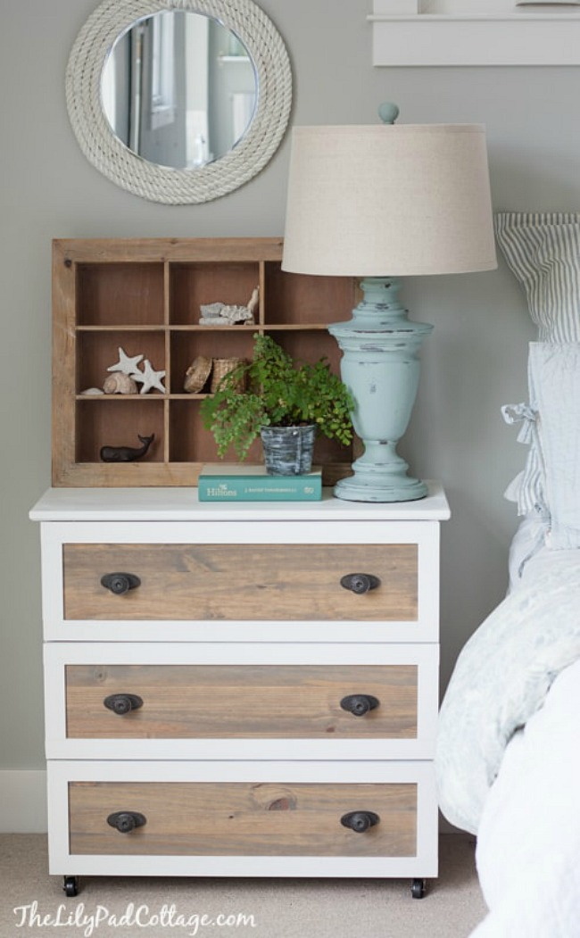 Ikea Tarva Nightstand Coastal Dresser Hack