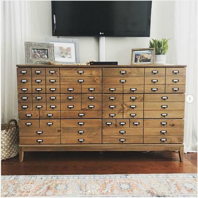 Ikea Tarva Apothecary Cabinet Hack - Console Media Cabinet