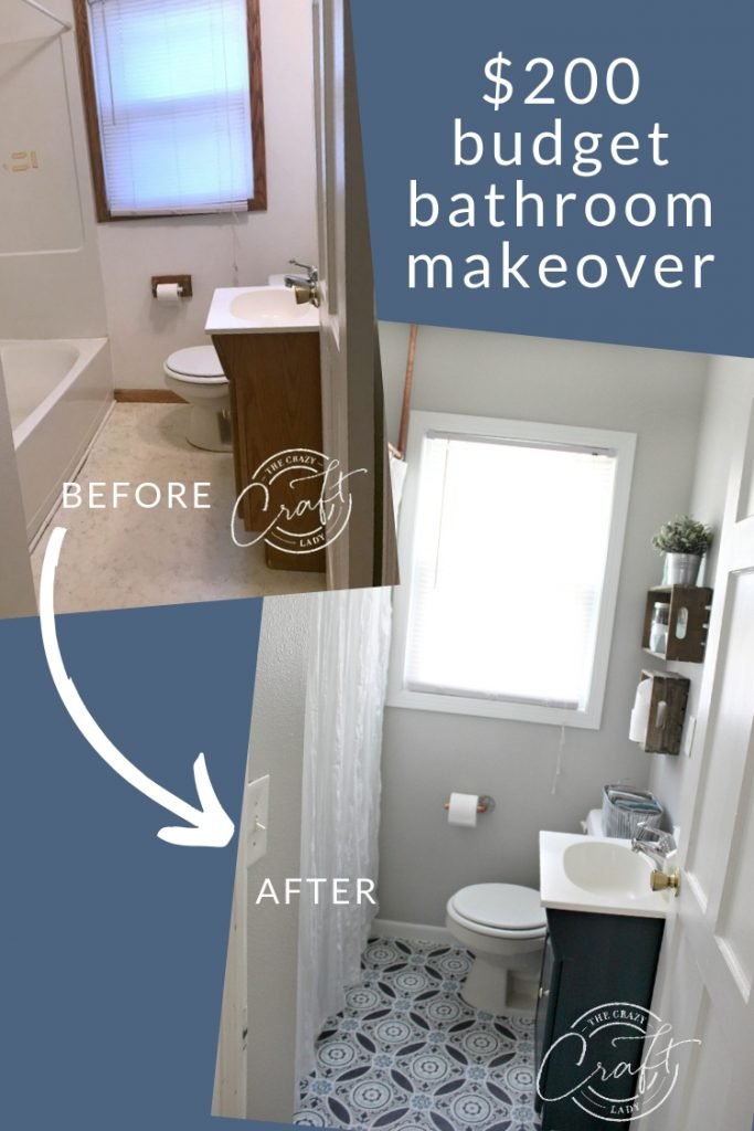 a budget bathroom makeover