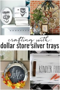 I'm serving up some crafty inspiration with these DIYs made from cheap plastic serving platters.