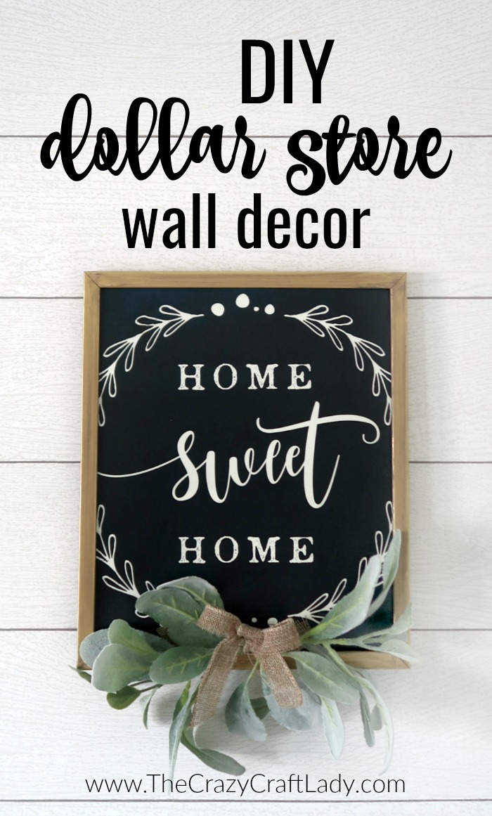 DIY Dollar Store Wall Decor - Grab a placemat and picture frame to make this beautiful farmhouse-style wall decor