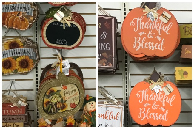 Dollar Tree Pumpkin Door Hangers