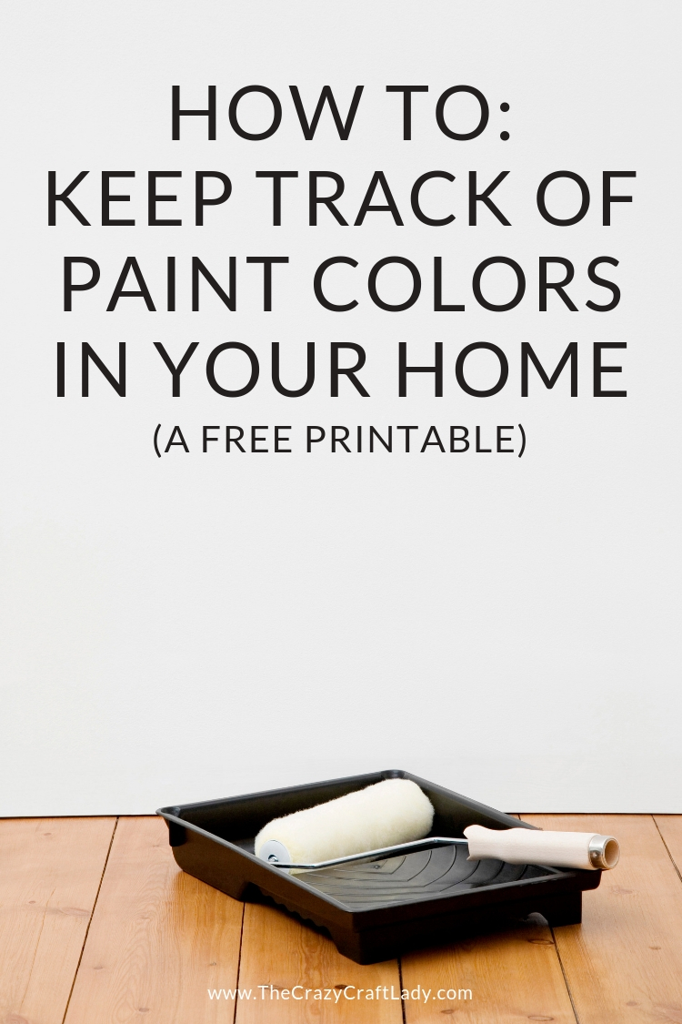 Keeping track of your home's paint colors just got way easier! How to Keep Track of Paint Colors in Your Home with this FREE Home Paint Colors Chart
