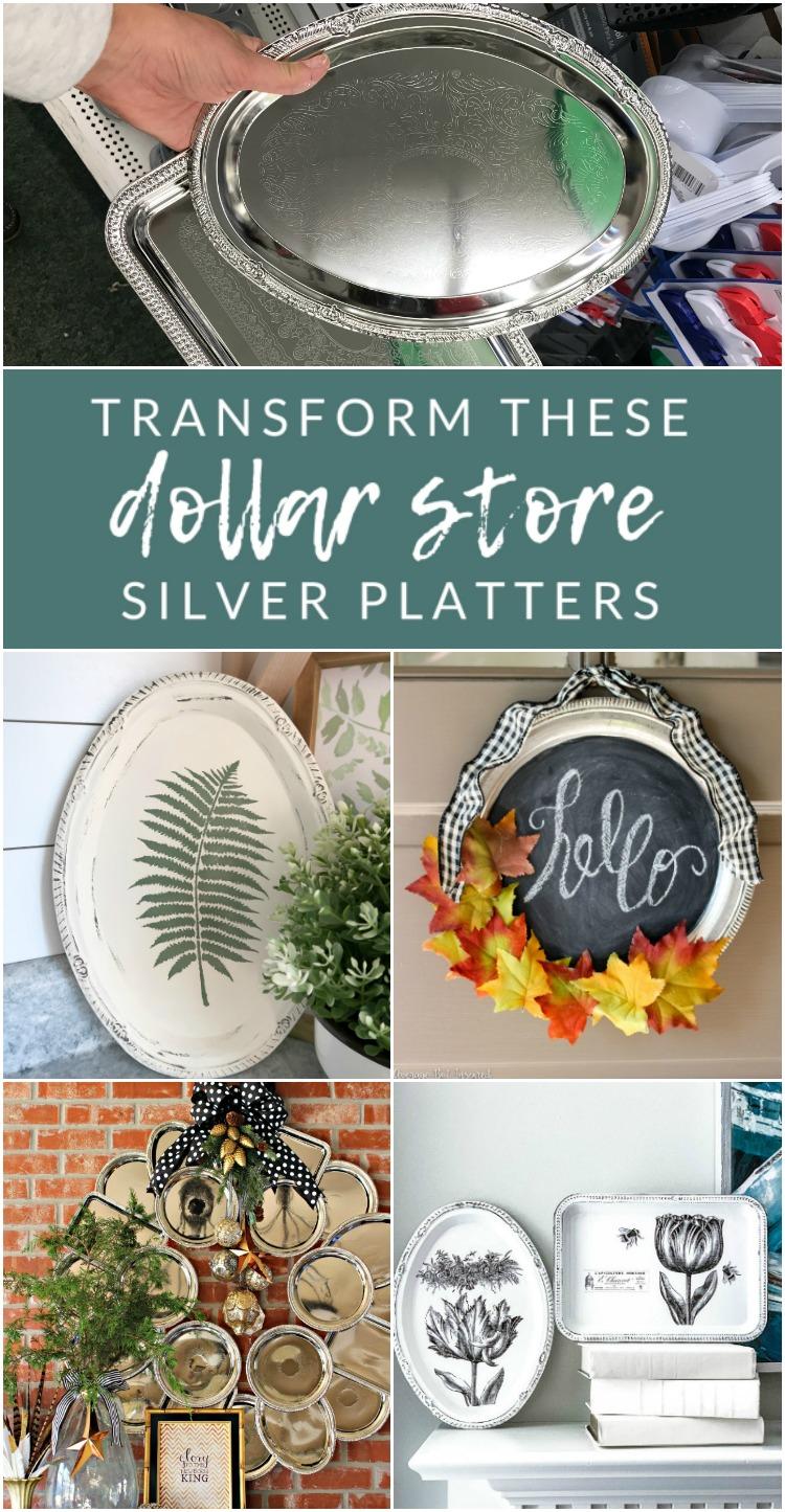 5 Dollar Store Tray Diys Plastic Serving Platter Transformations The Crazy Craft Lady