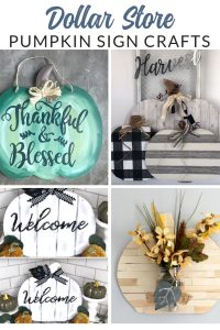Grab a few pumpkin signs from Dollar Tree, and let's get crafting. Transform these dollar store pumpkin door hangers into completely custom fall decor.
