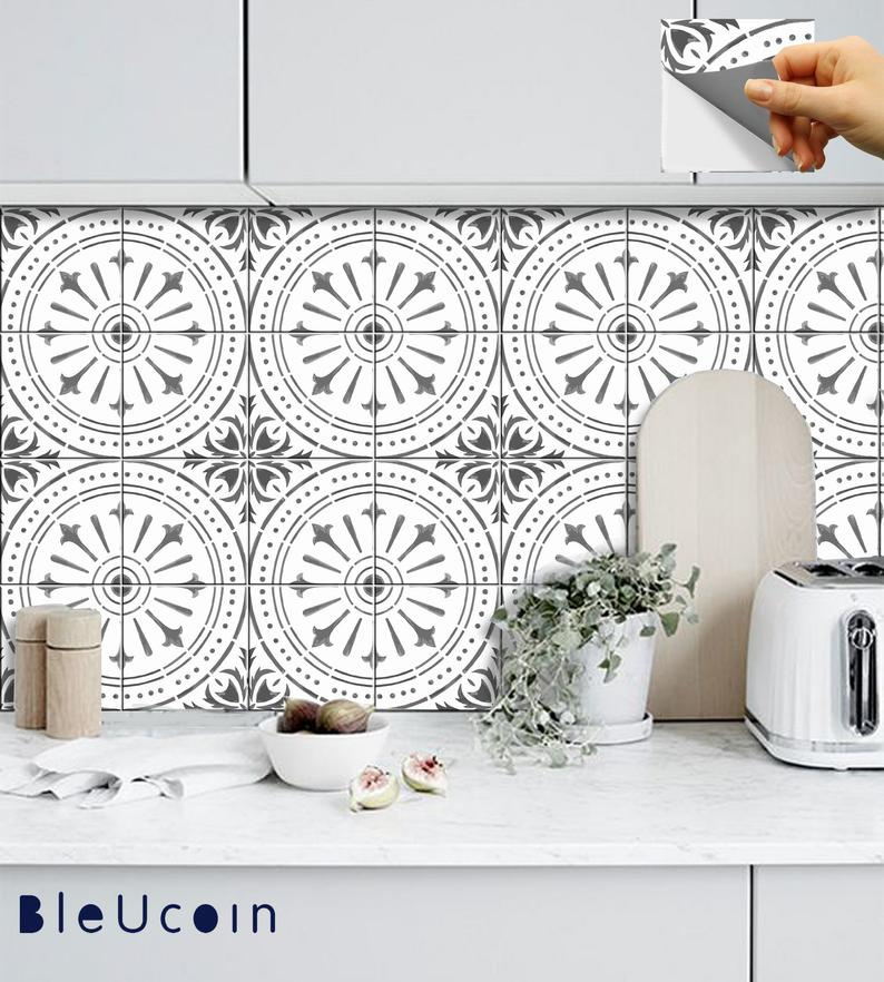 peel and stick vinyl tile sticker backsplash