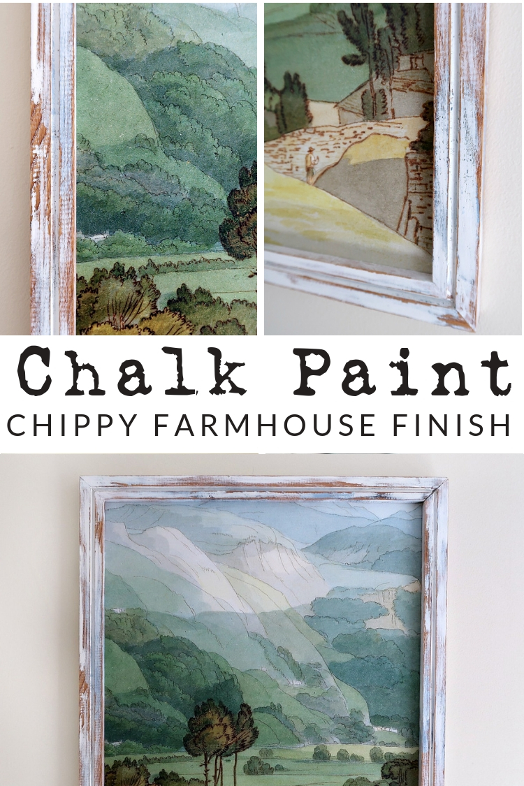 Grab some chalk paint and give an old piece of furniture or frame a brand new look, with this chippy, layered, distressed chalk paint finish. It's seriously SO EASY!