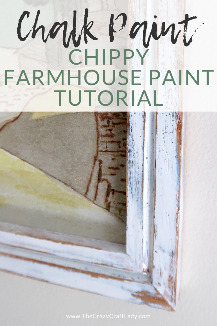Chalk Paint - chippy farmhouse paint tutorial The EASIEST Layered, Chippy, Distressed Chalk Paint Tutorial
