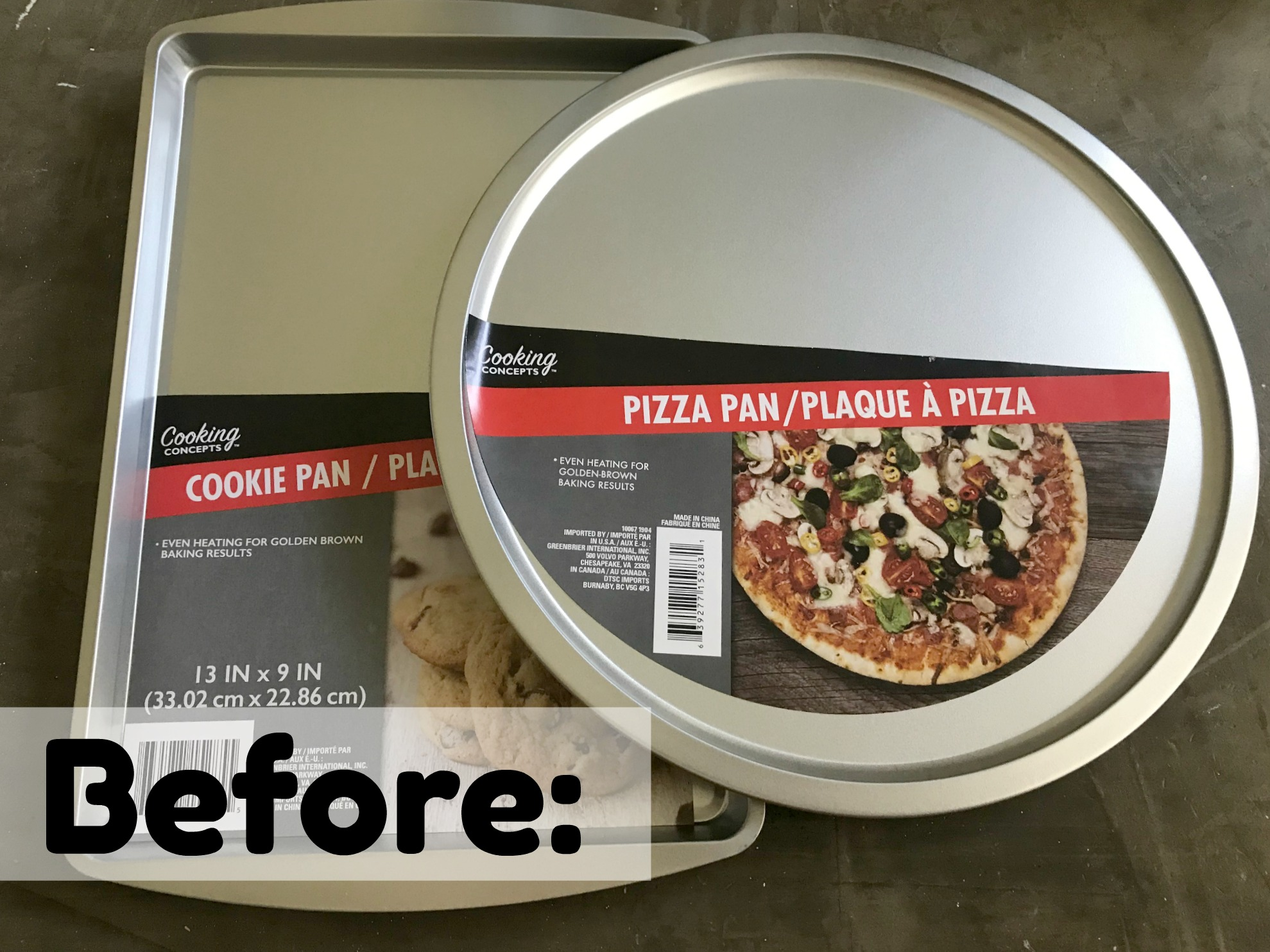 Dollar Store Cookie Sheet and Pizza Pan for Crafting