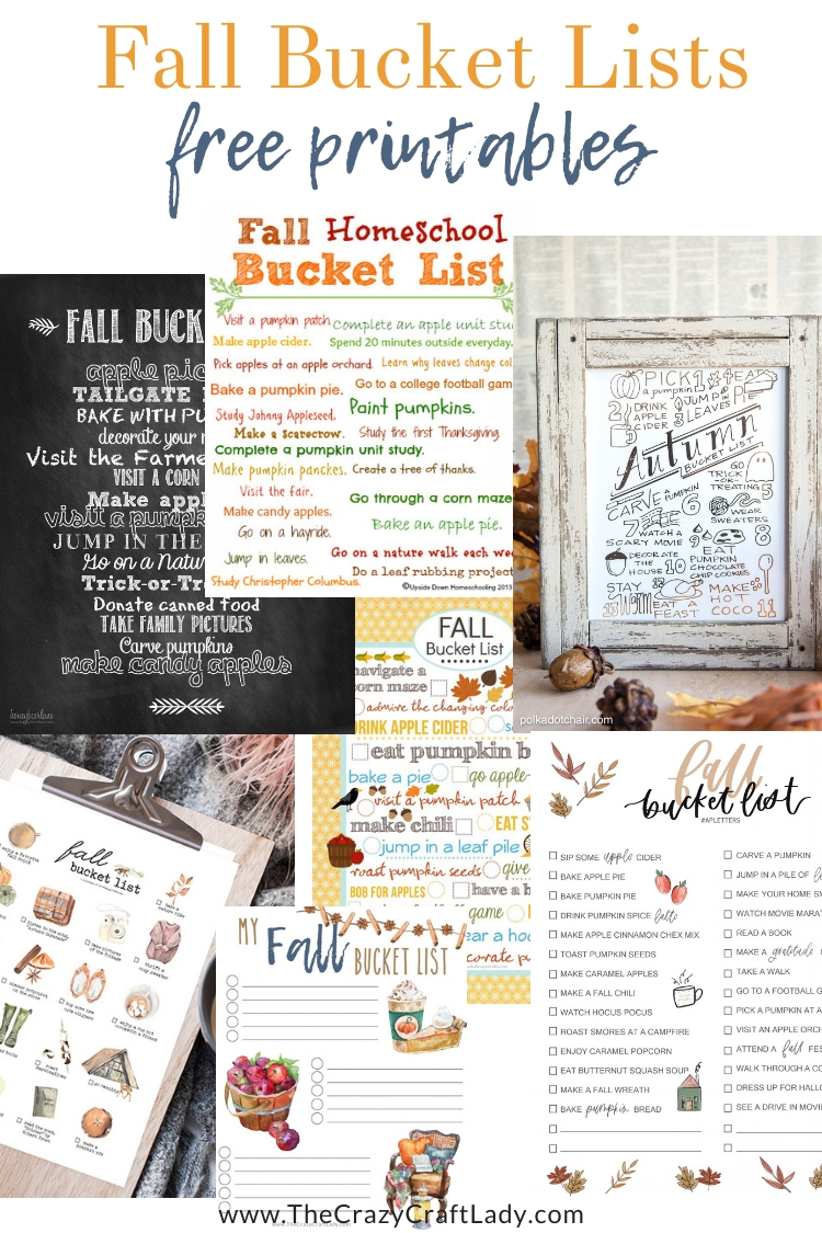FREE fall bucket list printables - make the most of the autumn season with a printable bucket list just for fall