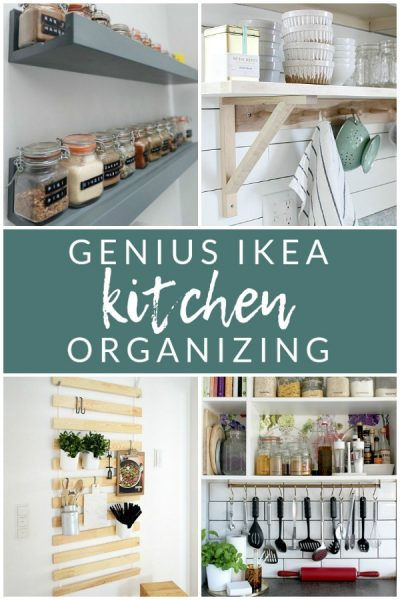 Genius Ikea Kitchen Organizing - Create extra kitchen storage with these clever Ikea hacks!