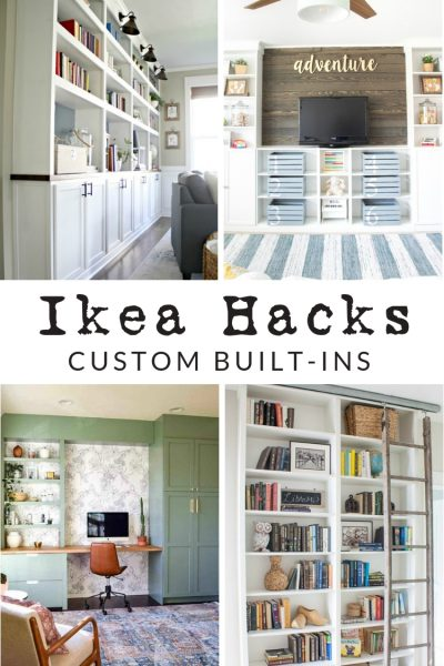 Ikea Custom Built Ins - Ikea Hacks for shelving and cabinets