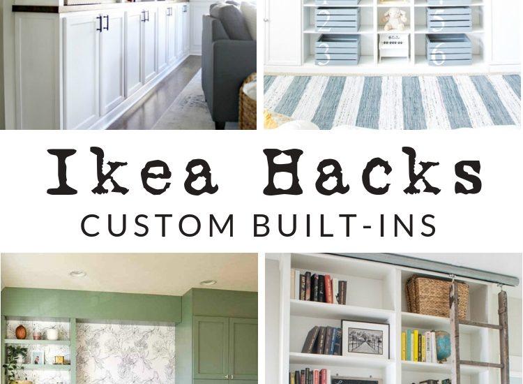 Ikea Custom Built Ins - Ikea Hacks for shelving and cabinets