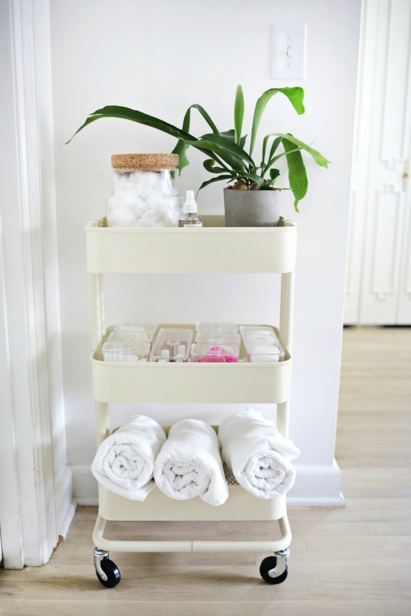 Ikea Raskog cart for extra bathroom storage