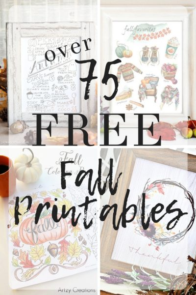 Over 75 Fabulous Free Fall Printables – printable art, gift tags, coloring pages, and more