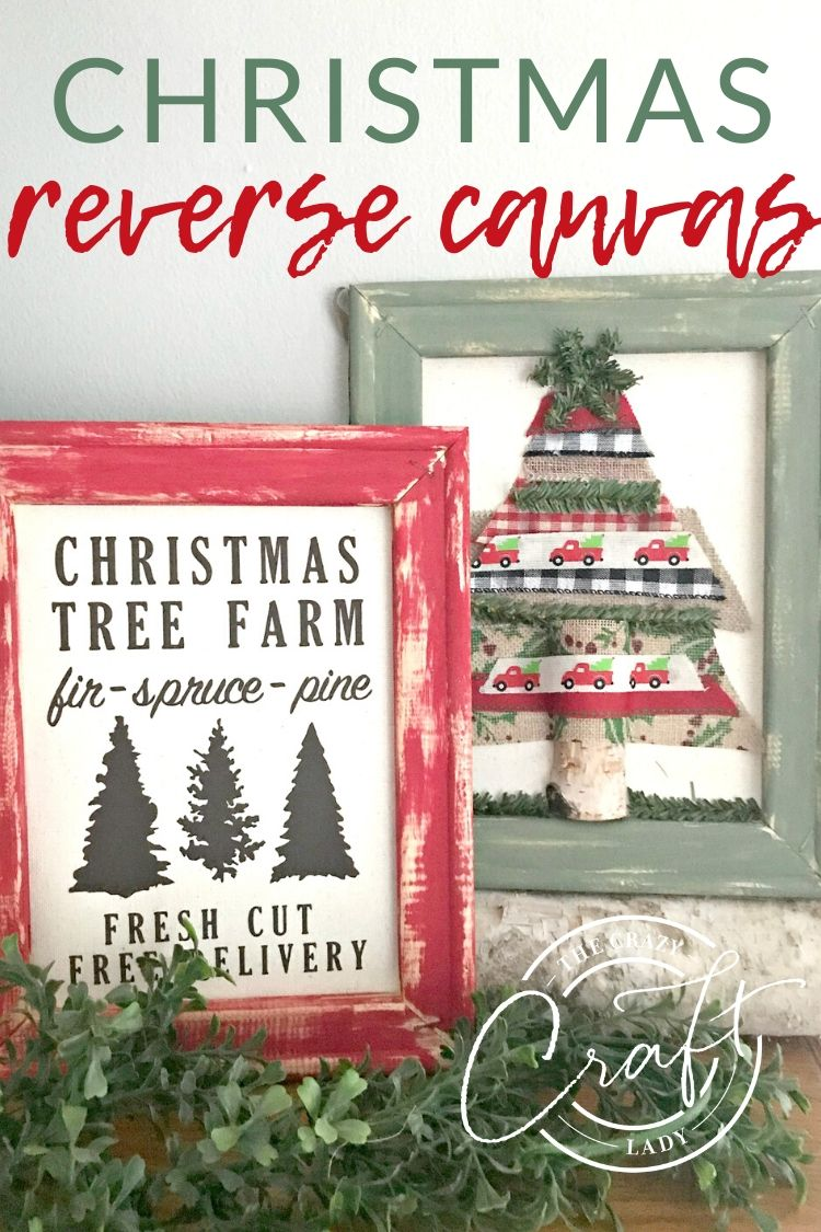 DIY Christmas Reverse Canvas Craft