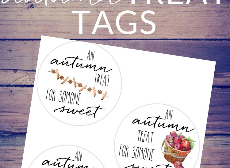 "Download and print these ""Autumn Treats"" gift tags - to top a mason jar of jam, tie to a fresh bunch of flowers, or attach to a loaf of pumpkin bread of a basket of fresh apple cinnamon muffins."