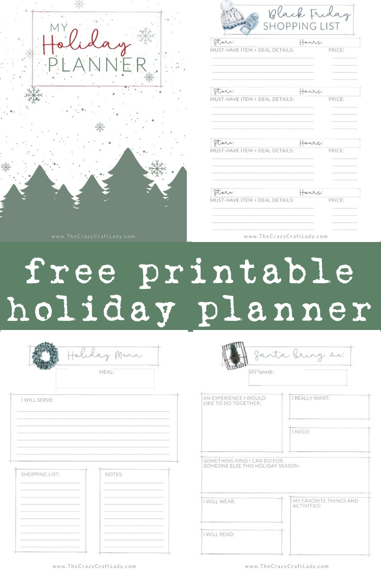 Grab this Free printable holiday planner to keep all of your Christmas prep organized - with gift lists, menu planners, and more.