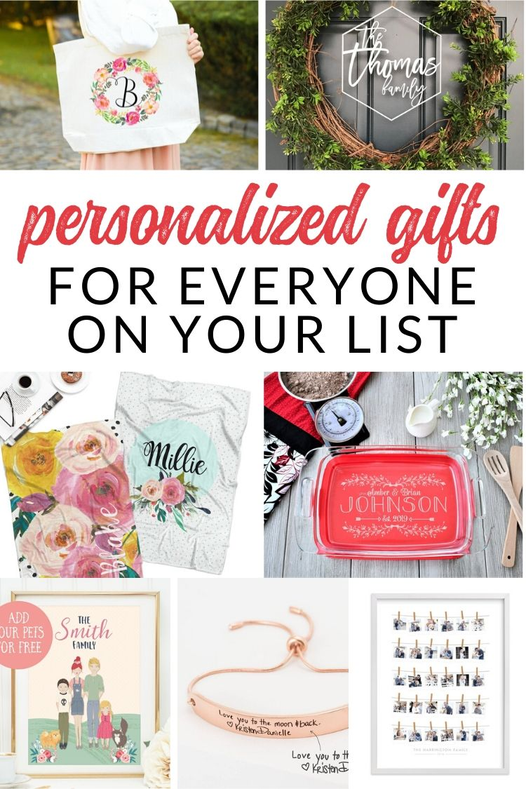Wow everyone on your list with one of these unique personalized gifts. I've gathered the best monogram and customized gift ideas sure to please friends and family this holiday season. Give the perfect Christmas gift with something personalized.