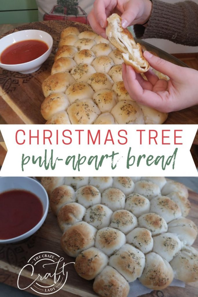 Whip up this cheesy Christmas tree pull apart bread for a fun and easy holiday appetizer. Great for holiday lunches, sides, or appetizers.