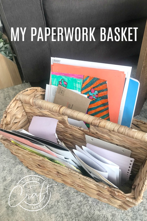 my paperwork basket - keeping paper clutter organized