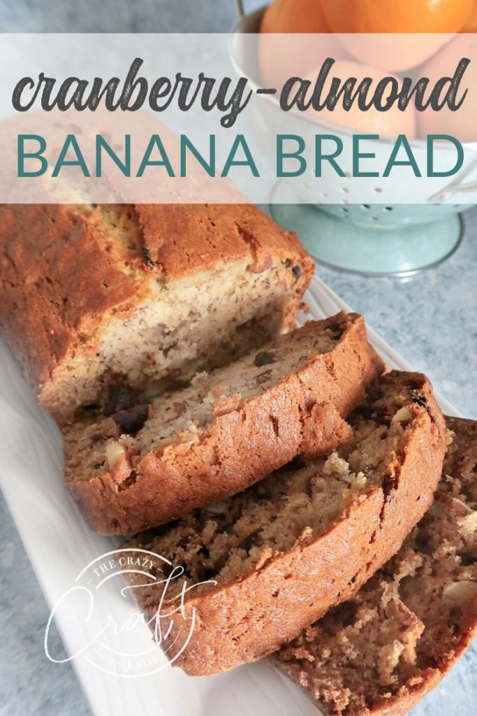 This delicious and moist cranberry almond banana bread is definitely a sweet treat that the whole family will love. Enjoy it fresh out of the oven, because this sweet loaf won't last long.