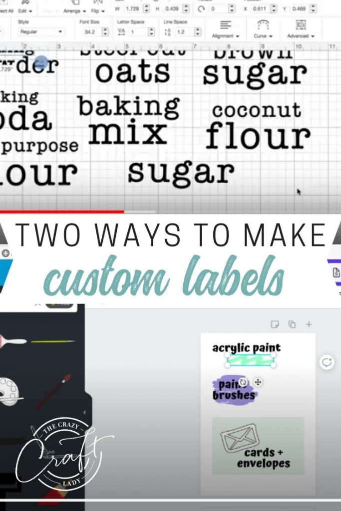 Follow these tutorials to see how to make your own DIY label decals - both with and without a Cricut machine. How to make labels in Canva.