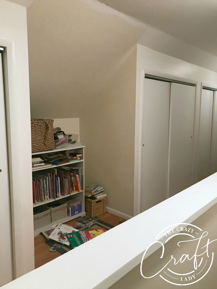 upstairs reading nook - the before picture