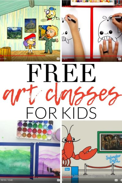 FREE Online Art Classes for Kids: Here are my favorite resources and YouTube channels that offer online art classes for kids. Happy making!
