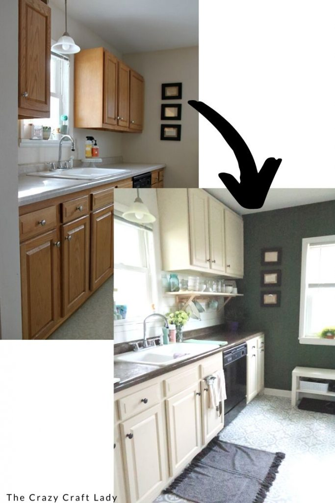 How to paint kitchen cabinets and raise them to the ceiling - a budget kitchen refresh