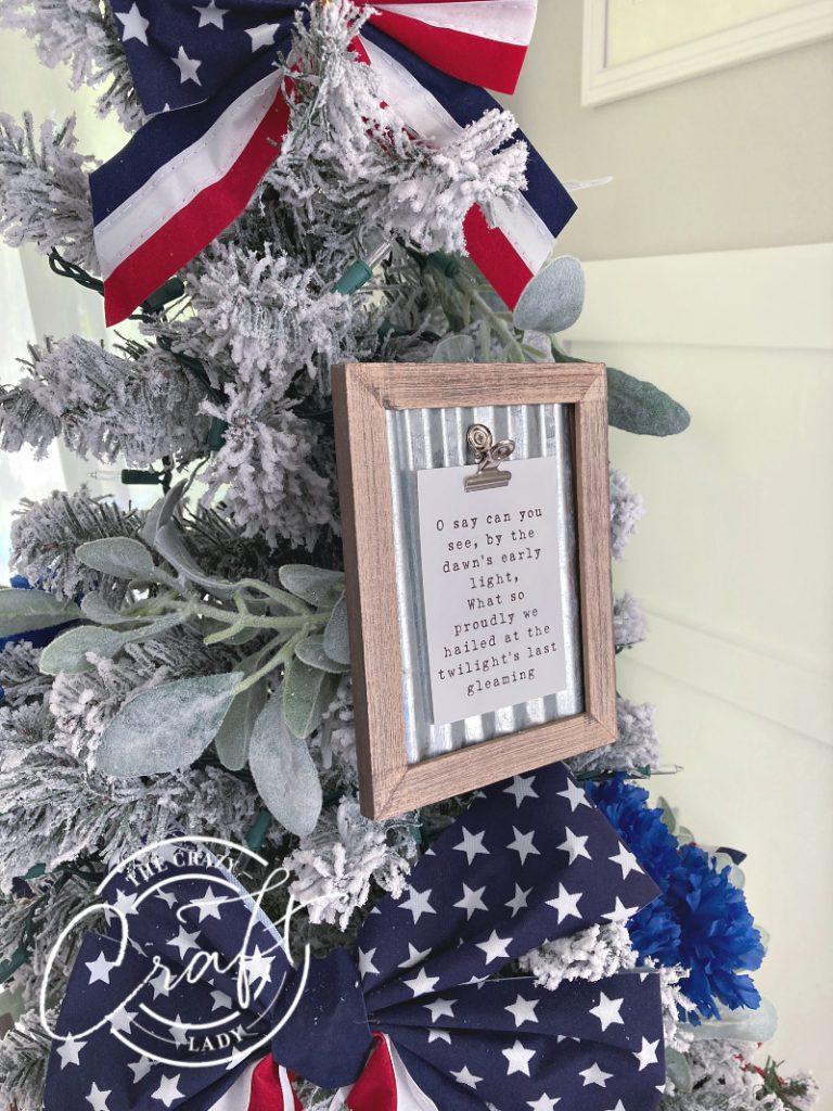 USA patriotic Christmas tree decorations