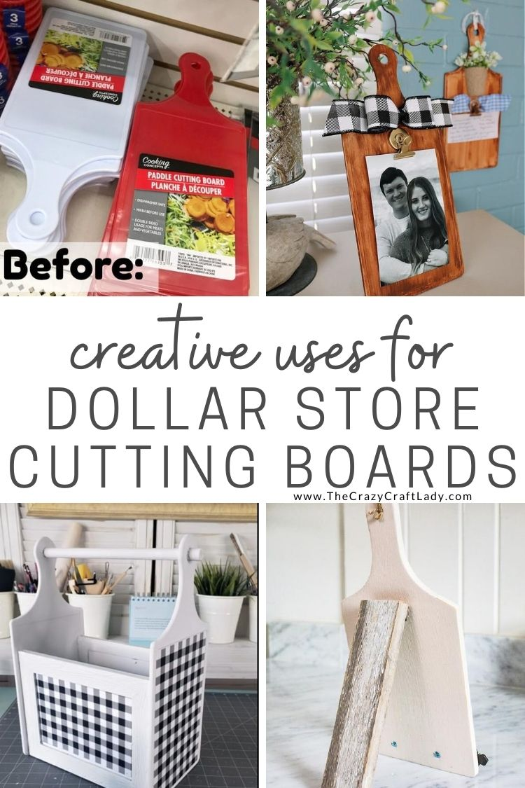 Dollar Store Cutting Board Crafts The Crazy Craft Lady