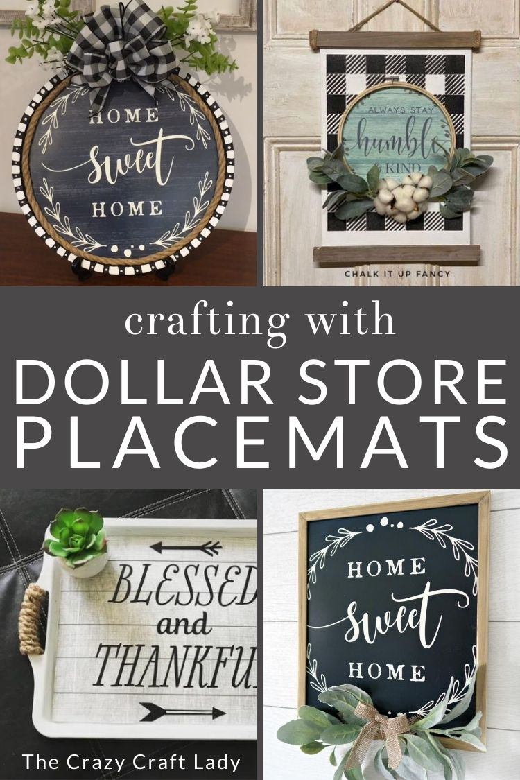 Dollar Store Placemat Crafts + DIY Decor - The Crazy Craft Lady